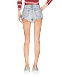 Glamorous   Blue Denim Shorts   Lyst