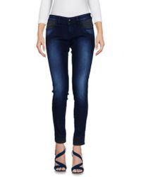 Carolina Wyser - Blue Denim Pants - Lyst