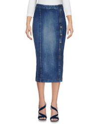 Guess Blue Denim Skirt