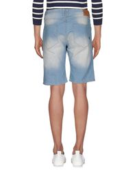 Solid - Blue Denim Bermudas for Men - Lyst