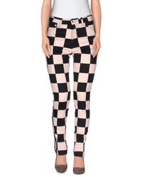 Love Moschino - Pink Casual Pants - Lyst