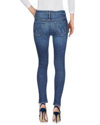 Pantalon en jean Mother en coloris Blue