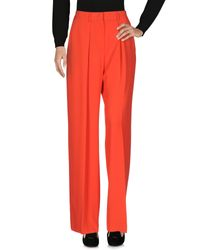 MSGM Red Casual Trouser