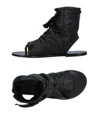Isabel Marant Black Toe Post Sandal