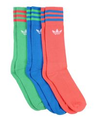 Adidas Originals Green Socks for men