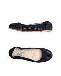 UGG Black Ballet Flats