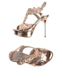 Giancarlo Paoli | Metallic Sandals | Lyst
