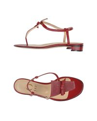 O Jour Textured-Leather Sandals