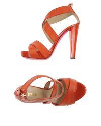 Just Cavalli - Orange Sandals - Lyst
