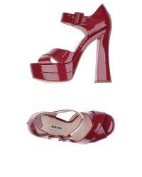 Miu Miu - Purple Sandals - Lyst