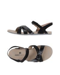 Janet & Janet Black Sandals