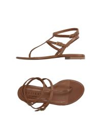 Orciani - Natural Caged Calfskin Sandals - Lyst
