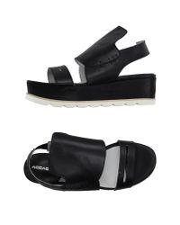 Accademia - Black Sandals - Lyst