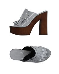 Accademia - Gray Mules - Lyst