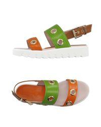 Leo | Orange Sandals | Lyst