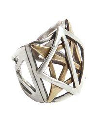 PAOLA GRANDE | Metallic Ring | Lyst