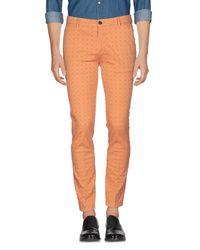 Yan Simmon Orange Casual Trouser for men