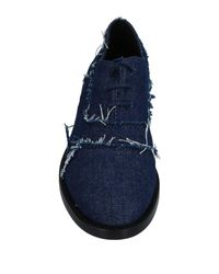 MM6 by Maison Martin Margiela - Blue Lace-up Shoe - Lyst
