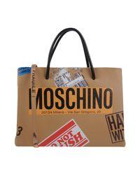 Moschino - Natural Handbag - Lyst