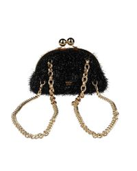 Boutique Moschino Fuzzy Backpack / Bag - Black