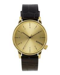 Komono - Metallic Wrist Watch for Men - Lyst