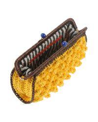 M Missoni Yellow Handbag