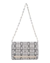Guess - White Animal-Print Faux-Leather Shoulder Bag - Lyst