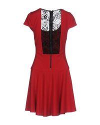 Alice + Olivia Red Short Dress