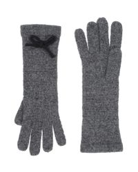 Scee By Twin-set - Gray Gloves - Lyst