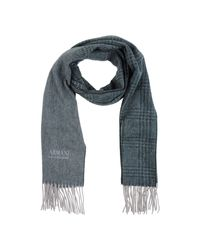 Armani | Green Oblong Scarf for Men | Lyst
