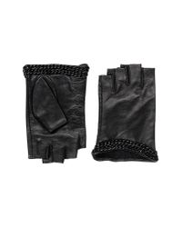 Karl Lagerfeld Black Gloves