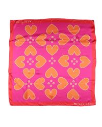 Twin Set Pink Square Scarf