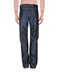 BOSS Black Blue Denim Trousers for men