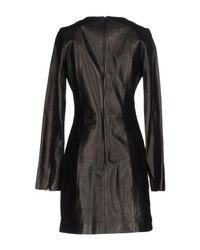 Mugler Black Short Dress
