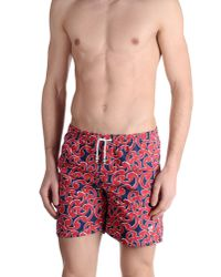 Mitchumm Industries Red Swimming Trunks for men