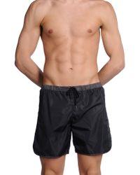 Tooshie Black Swimming Trunks for men