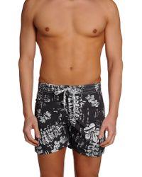 Replay - Gray Swimming Trunks for Men - Lyst