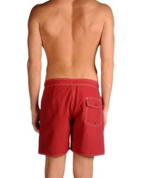 Saturdays NYC - Red Swimming Trunks for Men - Lyst