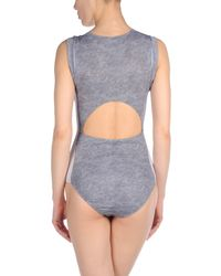 Beth Richards - Gray One-piece Swimsuit - Lyst