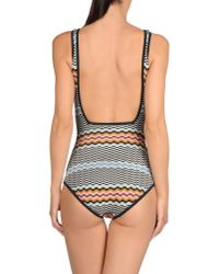 Missoni - Black One-piece Swimsuit - Lyst