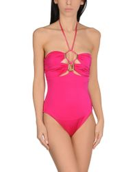 Plein Sud - Pink One-piece Swimsuit - Lyst