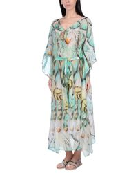 Roberto Cavalli - Green Beach Dress - Lyst