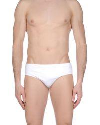 Prada   White Swim Brief for Men   Lyst