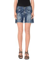 Space Style Concept - Blue Denim Shorts - Lyst