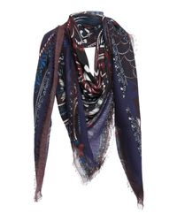 KENZO Brown Square Scarf
