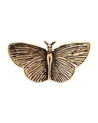 Saint Laurent - Metallic Brooches - Lyst