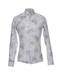 Emanuel Ungaro Gray Shirt for men