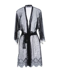 Twin Set - Black Dressing Gown - Lyst