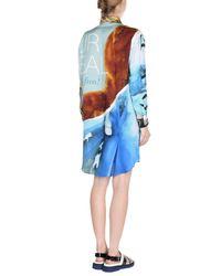Moschino - Blue Printed Dress - Lyst