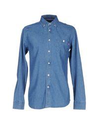Obey Blue Denim Shirt for men